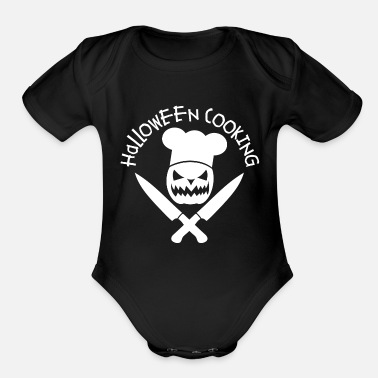 Funny Cooking Halloween Cooking. Funny cooking Pumpkin - Organic Short-Sleeved Baby Bodysuit