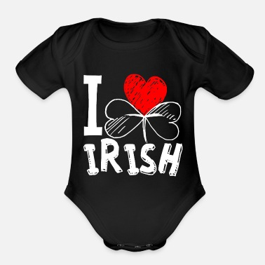 Day I love Irish - Organic Short-Sleeved Baby Bodysuit