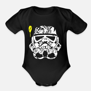 Tatoo Stormtrooper Tatoo - Organic Short-Sleeved Baby Bodysuit