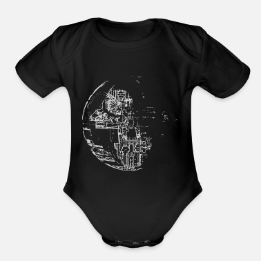 Death Stars Star Death - Organic Short-Sleeved Baby Bodysuit