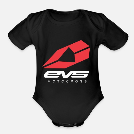 Eve Baby Clothing - Evs - Organic Short-Sleeved Baby Bodysuit black