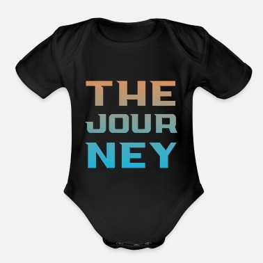 Journey the journey - Organic Short-Sleeved Baby Bodysuit