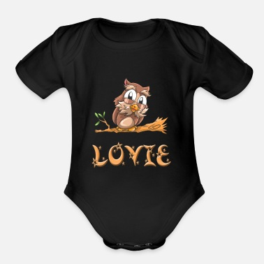 Lovis Lovie Owl - Organic Short Sleeve Baby Bodysuit
