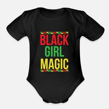 African American Black Girl Magic African - Organic Short Sleeve Baby Bodysuit
