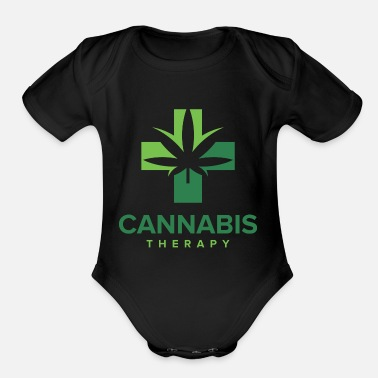 Cannabis Cannabis Therapy - Organic Short-Sleeved Baby Bodysuit