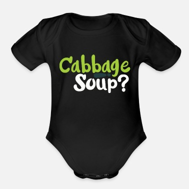 Soup Cabbage Soup - Organic Short-Sleeved Baby Bodysuit