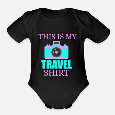 Travel Travel Gift Flight Flying Holidays Summer Holidays - Organic Short Sleeve Baby Bodysuit