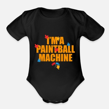 Paintball Paintball Gift Sport Gotcha Colorball Colorball - Organic Short Sleeve Baby Bodysuit
