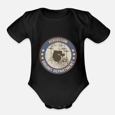 Drums drums drums - Organic Short-Sleeved Baby Bodysuit