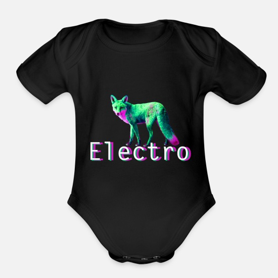 Electronics Baby Clothing - Electro techno music - Organic Short-Sleeved Baby Bodysuit black