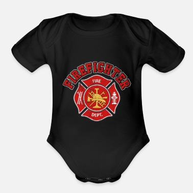 Fire fire Department - Organic Short-Sleeved Baby Bodysuit