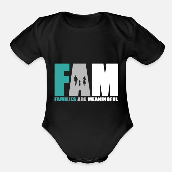 Reunion Baby Clothing - Family day Family party Family holiday crest gift - Organic Short-Sleeved Baby Bodysuit black