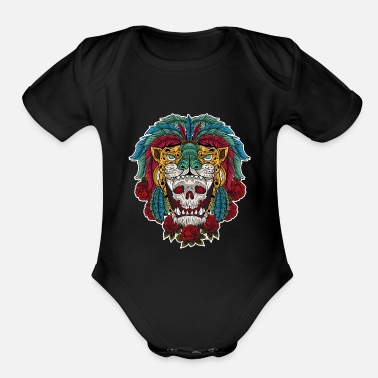 Aztec Warriors Aztec Warrior Skull - Organic Short-Sleeved Baby Bodysuit