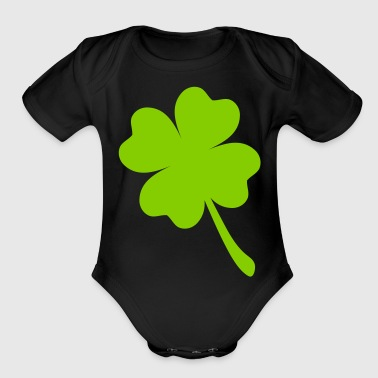 FOUR LEAF CLOVER - Organic Short Sleeve Baby Bodysuit