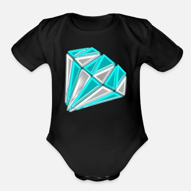 Glamour diamond glamour - Organic Short-Sleeved Baby Bodysuit