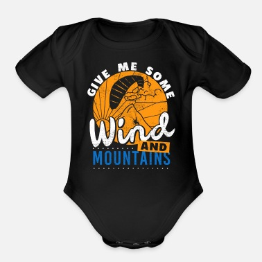Recreational Paragliding Wind And Mountains T-Shirt - Organic Short-Sleeved Baby Bodysuit