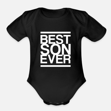 Mum And Son Son Gift Idea Parents - Organic Short-Sleeved Baby Bodysuit