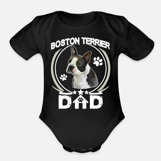 a9ef1e59d Dad To Be Baby Clothing - Boston Terrier Dad Shirt Fathers Day Gift Dog Love  -