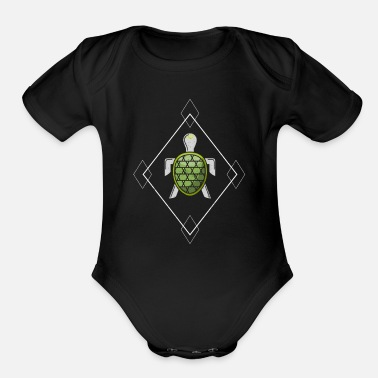 Pond Turtle Sea Animal Present Gift Idea T-Shirt - Organic Short-Sleeved Baby Bodysuit