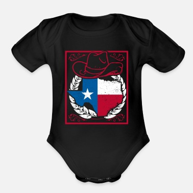 Style Texas Old Style Iconic Country Gift Idea Shirt - Organic Short-Sleeved Baby Bodysuit