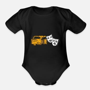 Filming Cool Filmstrip Camera Mask Gift Present Idea - Organic Short-Sleeved Baby Bodysuit