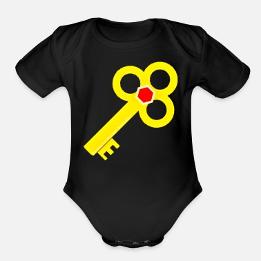 Ramseys Retro Apparel Ramseys Secret Key - Organic Short-Sleeved Baby Bodysuit