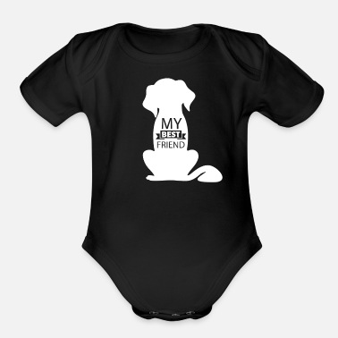 Friend Dog is My Best Friend - Organic Short-Sleeved Baby Bodysuit