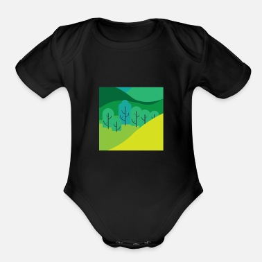 Nature Lovers Nature lovers - Organic Short-Sleeved Baby Bodysuit