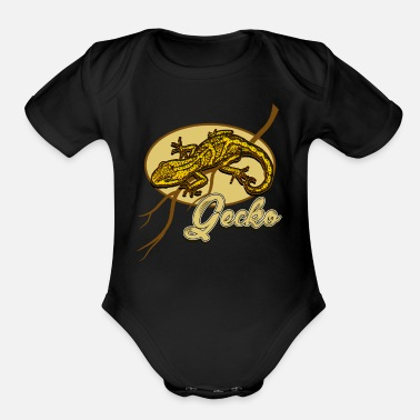 Lizard Lizard - Organic Short-Sleeved Baby Bodysuit