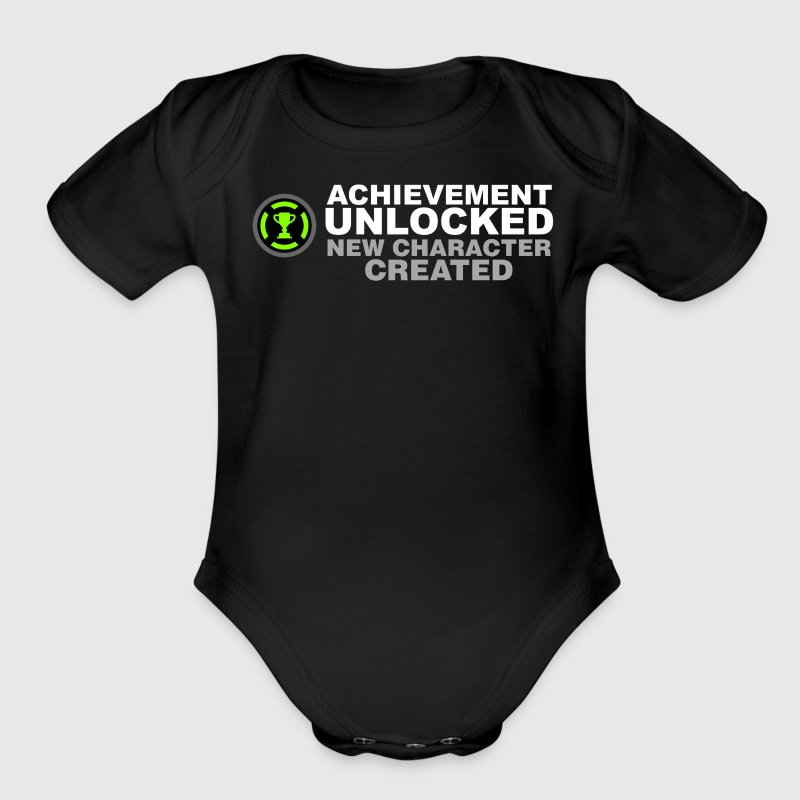 Achievement Unlocked New Character Created - Organic Short Sleeve Baby Bodysuit