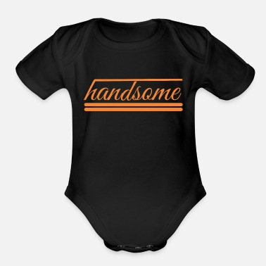 Handsome handsome - Organic Short-Sleeved Baby Bodysuit