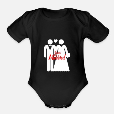 Marry Just Married - Organic Short Sleeve Baby Bodysuit