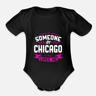 Chicago Chicago - Organic Short-Sleeved Baby Bodysuit