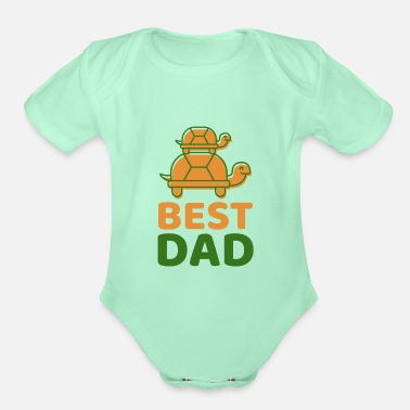 Best Dad Best Dad - Organic Short-Sleeved Baby Bodysuit