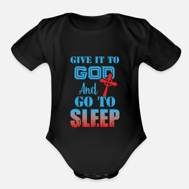 Prayer Trust in God Coptic Orthodox Catholic T-Shirt - Organic Short-Sleeved Baby Bodysuit
