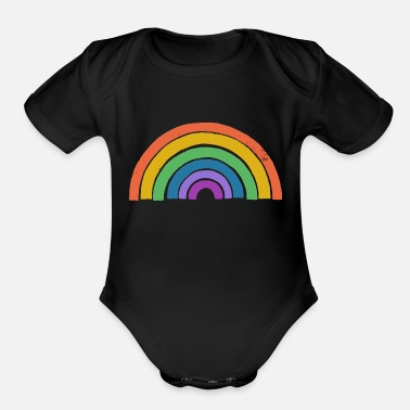 Rainbow - Organic Short-Sleeved Baby Bodysuit