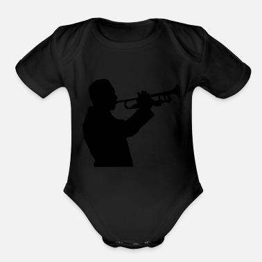 Horns horn - Organic Short Sleeve Baby Bodysuit