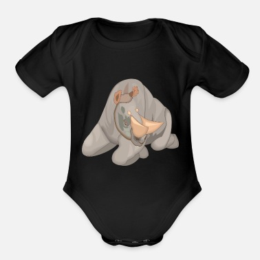 Horns horns - Organic Short-Sleeved Baby Bodysuit