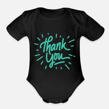 Thank You Thank you - Organic Short Sleeve Baby Bodysuit