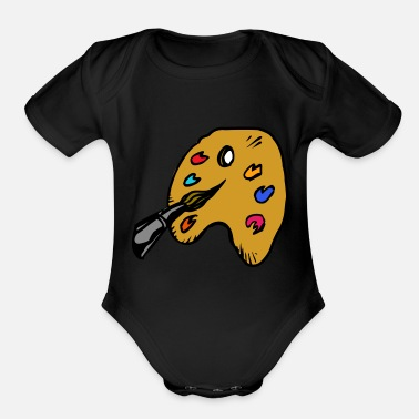 Painting paint - Organic Short Sleeve Baby Bodysuit