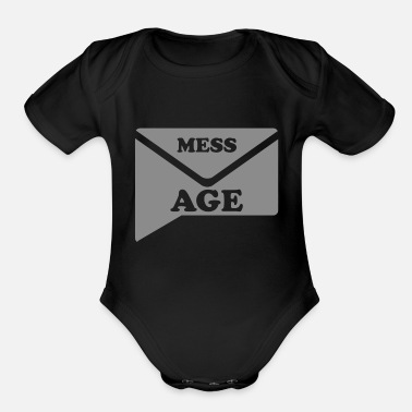 Message MESSAGE - Organic Short-Sleeved Baby Bodysuit