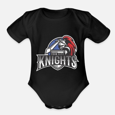 Knights Of St John Knights Your City - Organic Short-Sleeved Baby Bodysuit