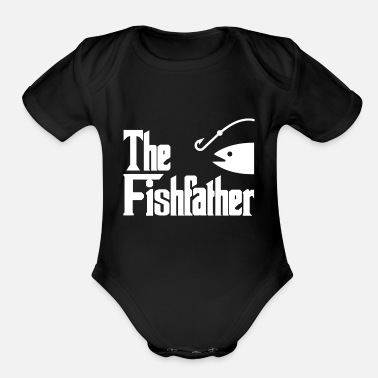 Funny Pictures Fishing Fish Funny Picture fisherman - Organic Short-Sleeved Baby Bodysuit