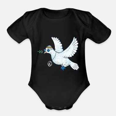 John dove pigeon - Organic Short-Sleeved Baby Bodysuit