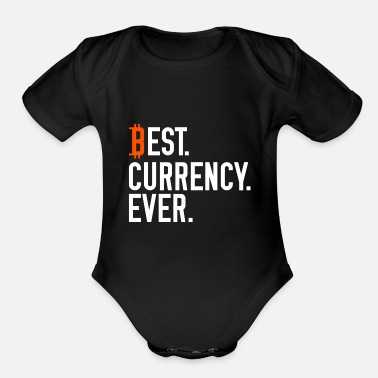 Currency bitcoin currency - Organic Short-Sleeved Baby Bodysuit