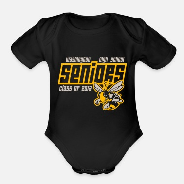 High School Senior Washington High School Seniors Hornets - Organic Short-Sleeved Baby Bodysuit