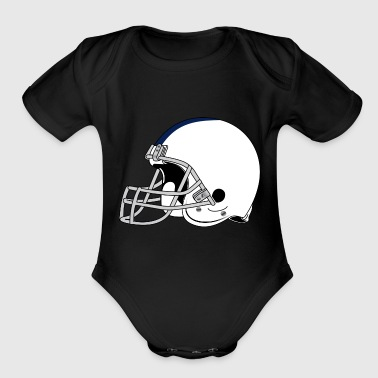 American Football 1 - Organic Short Sleeve Baby Bodysuit