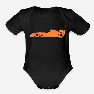 Racing Car car racing - Organic Short-Sleeved Baby Bodysuit