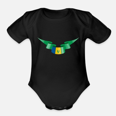 Saint Vincent And The Grenadines Saint Vincent and the Grenadines Flag Banner - Organic Short-Sleeved Baby Bodysuit