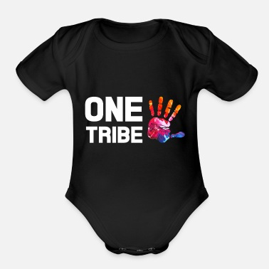 ONE TRIBE One People - Organic Short-Sleeved Baby Bodysuit